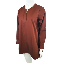 Cotton Linen Round Neck Long Sleeve Blouse