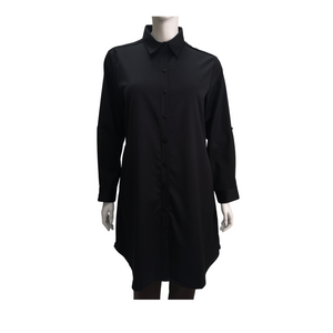 Poly Twill Long Sleeve Shirt Dress
