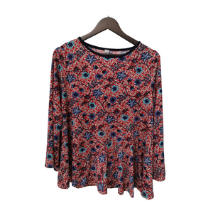 Printed Jersey Boat Neck Top
