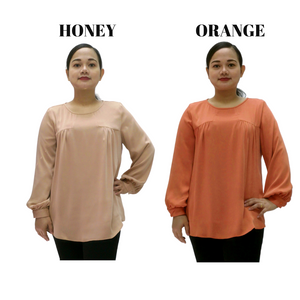 Poly Long Sleeve Blouse