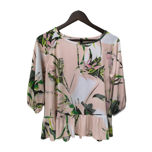 Printed Jersey 3/4 Sleeve Blouse