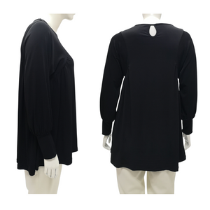 Jersey Puffed Sleeve Blouse
