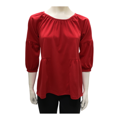 Cotton Jersey Long Sleeve Blouse