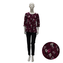 Printed Jersey Round Neck Blouse