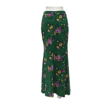 Printed Jersey A-Line Maxi Skirt