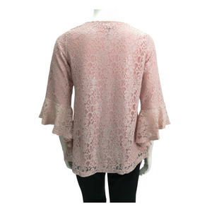 Laces Ruffle 3/4 Sleeve Blouse