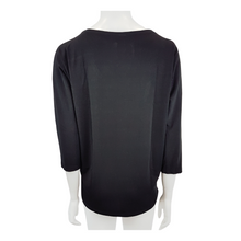Poly Metalic Buckle Neck Top
