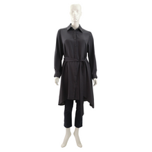 Poly Georgette Long Sleeve Shirt Dress