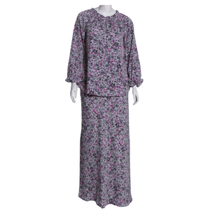 Printed Ruffled Long Sleeve Kurung