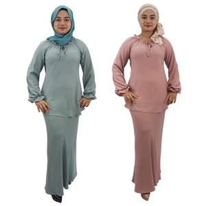 Georgette Frills Top Kurung
