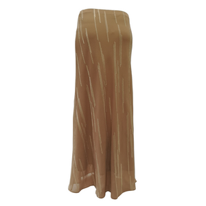 Poly Jacquard Bias Long Skirt