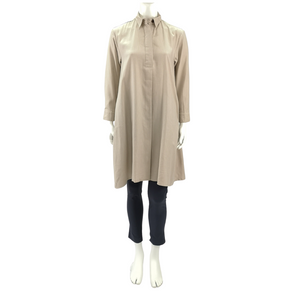 Tencel Linen Long Sleeve Shirt Dress