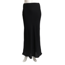 Poly Suiting Bias Long Skirt