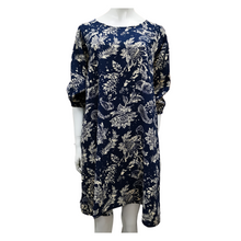 Floral Puffed Sleeve Knee Dress