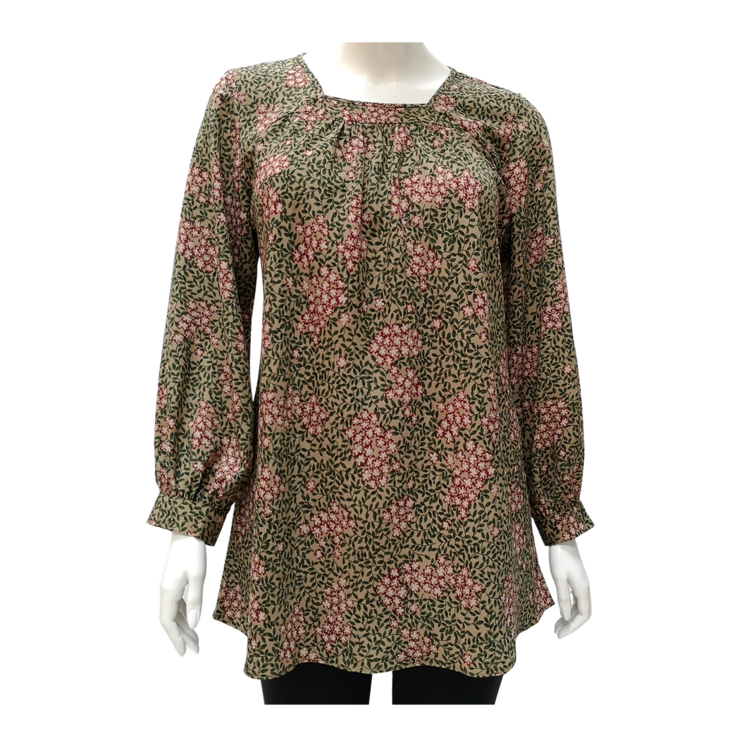 Printed Square Neck Blouse