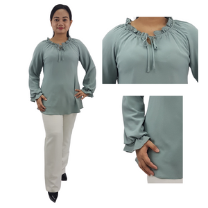 Georgette Frills Long Sleeve Blouse