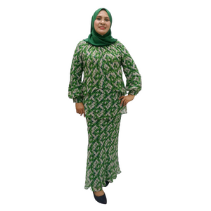 Printed Chiffon Layered Top Kurung