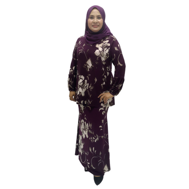 Printed Jersey Long Sleeve Kurung