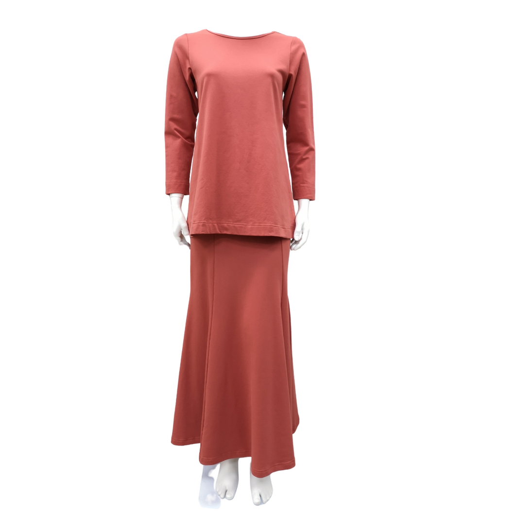 Cotton Knit Long Sleeve Kurung