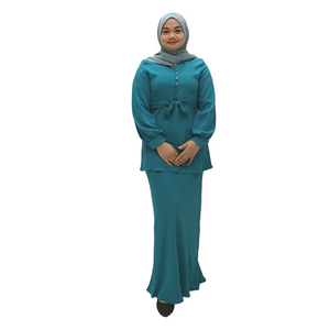 Poly Suiting Long Sleeve Kurung