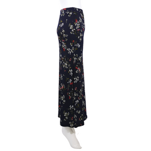 Printed Jersey A Line Maxi Skirt