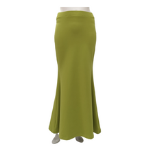 Cotton Knit A Line Maxi Skirt