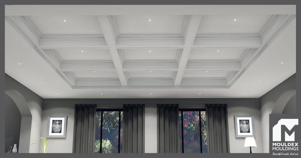 Traditional Coffered Ceiling Layout