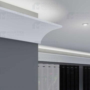interior plaster architectural light cove crown molding moulding moldings mouldings foamcore polystyrene