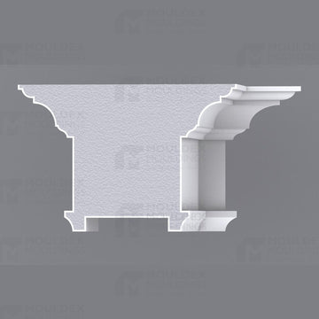THE BELVEDERE - INTERIOR PLASTER CEILING BEAM (12