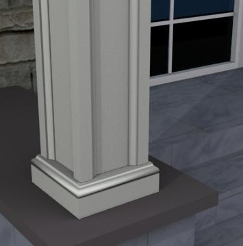 THE DEVERALL - EXTERIOR PILASTER/SQUARE COLUMN BASE  (4