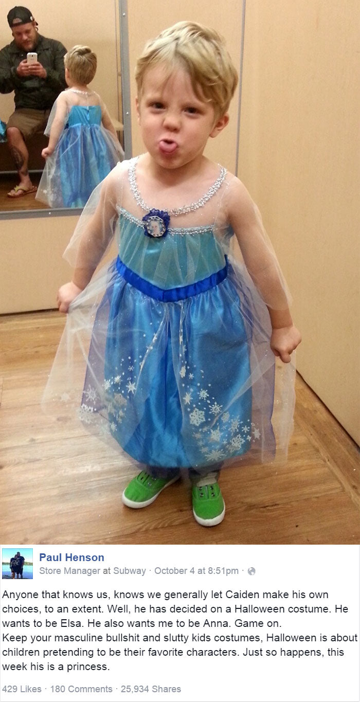 Why I Let My Son Dress Up Like a Princess