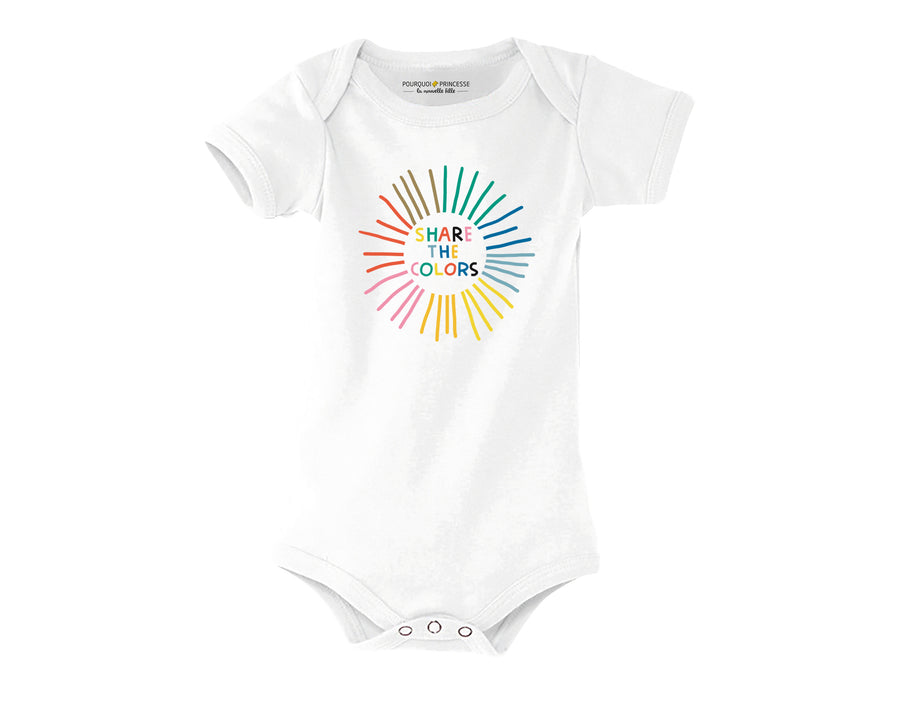 Share the Colors Baby Onesie