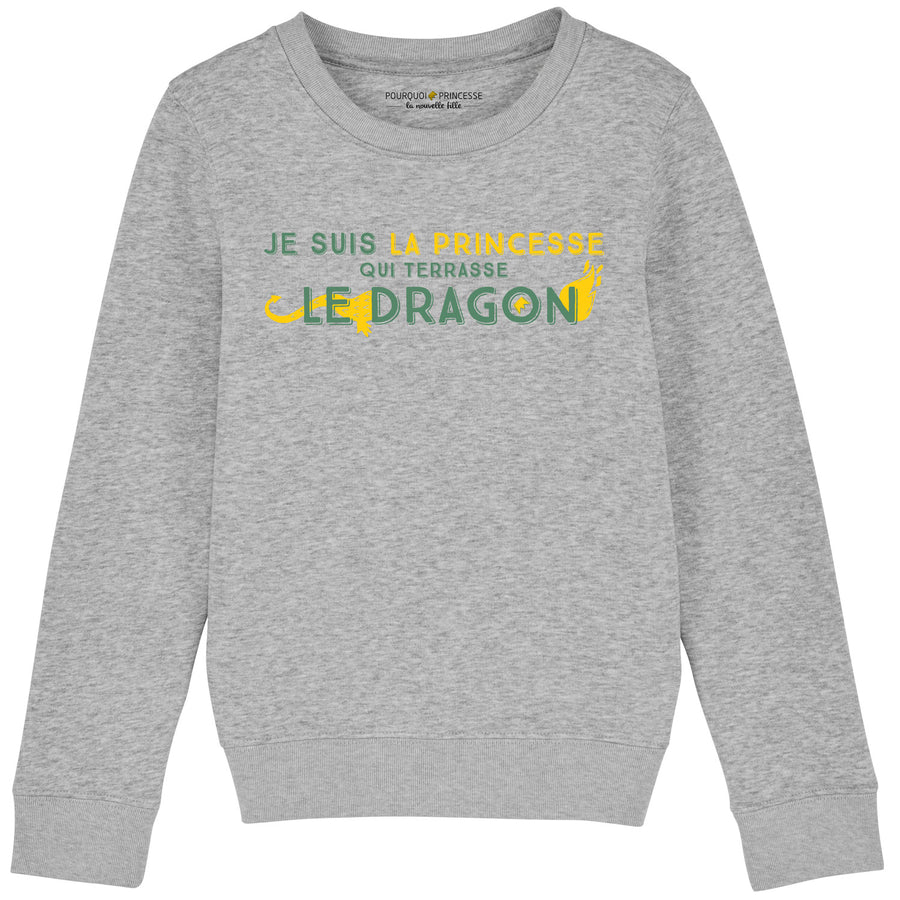 I'm the princess who slayed the dragon Sweatshirt Heather Grey