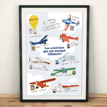 Poster Famous Female Aviators who left their mark on History