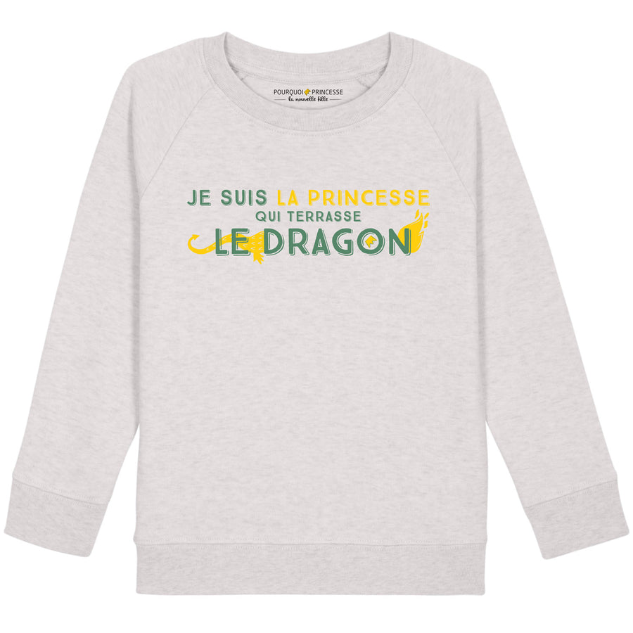 I'm the princess who slayed the dragon Raglan Sweatshirt Heather Cream