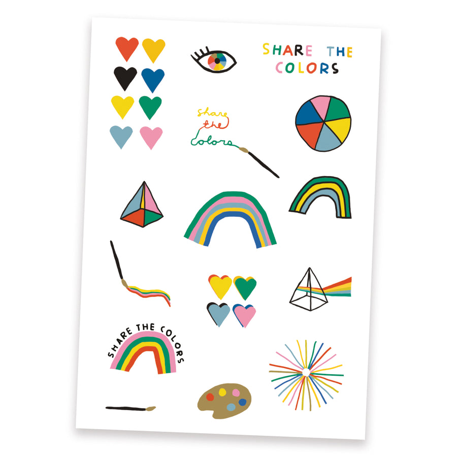 Share the Colors Temporary Tattoo Pack