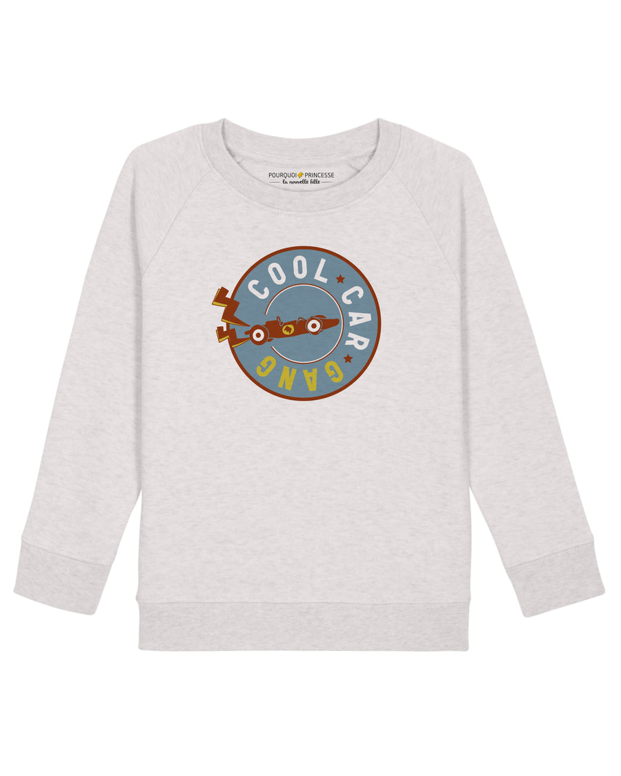Cool Car Gang Raglan Sweatshirt Heather Cream