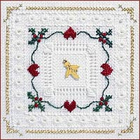 Holly Hearts Hardanger Kit
