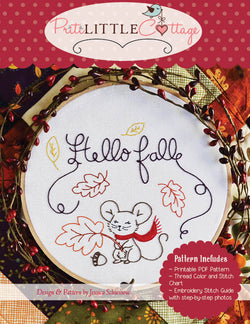 Hello Fall Embroidery Pattern