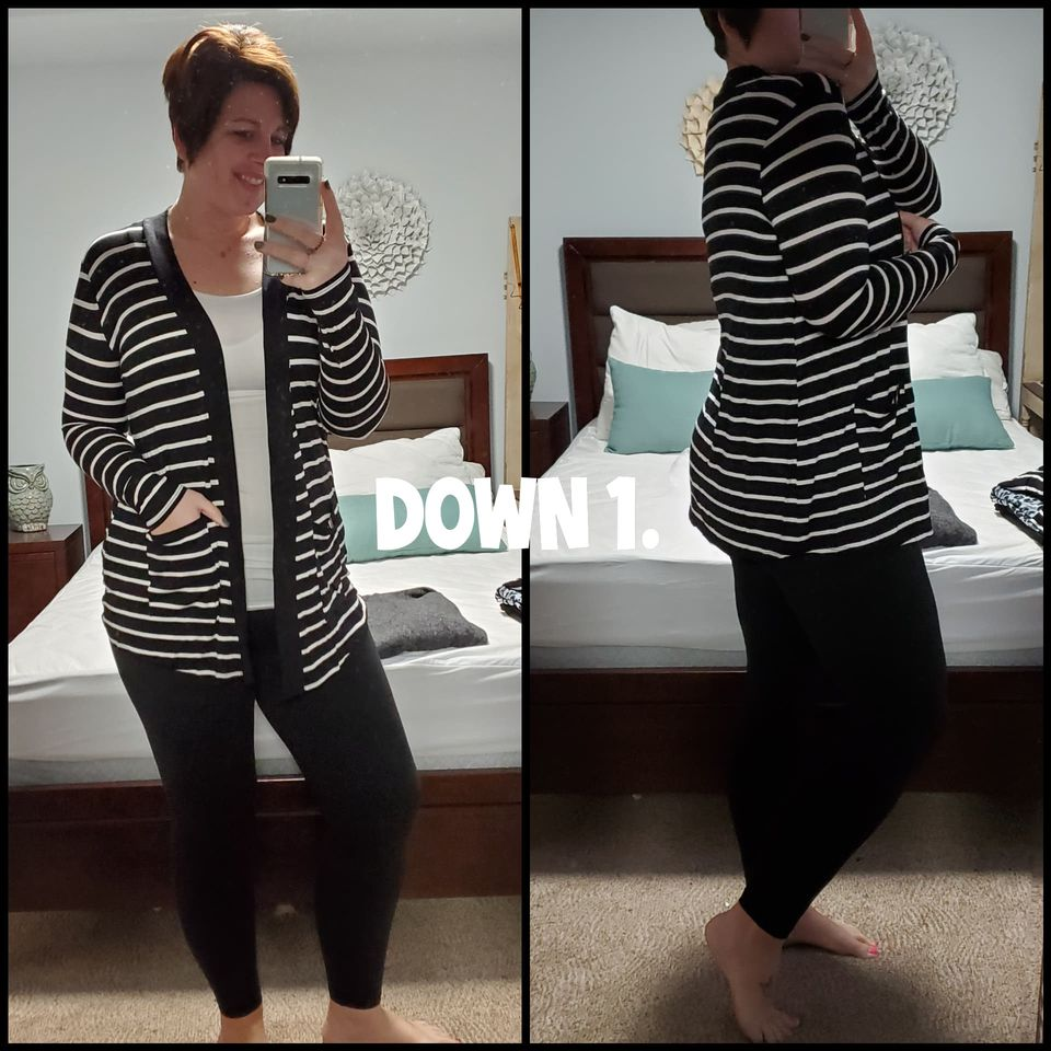 Striped Slouchy Pocket Open Cardi | 2 colors