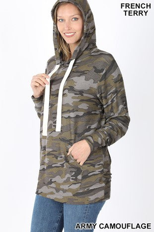 camo french terry light weight hood | 2 options