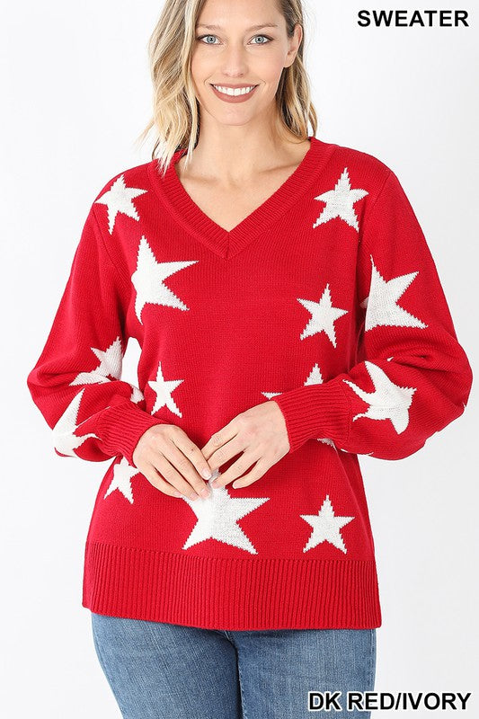 Star Sweater | Red