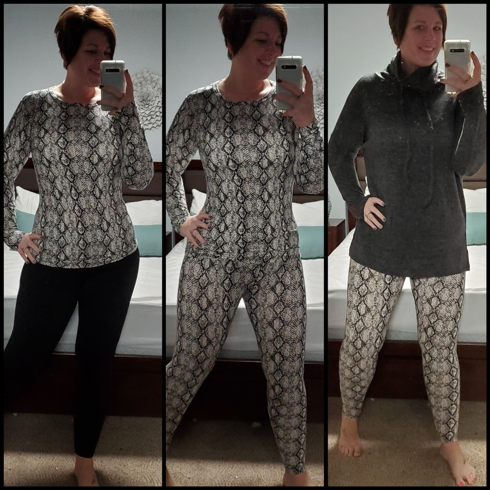 Snake Pattern Buttery soft legging and long sleeve set