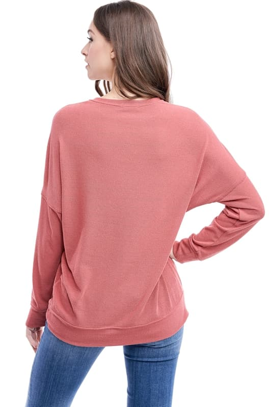 Rust Dolman French Terry Top
