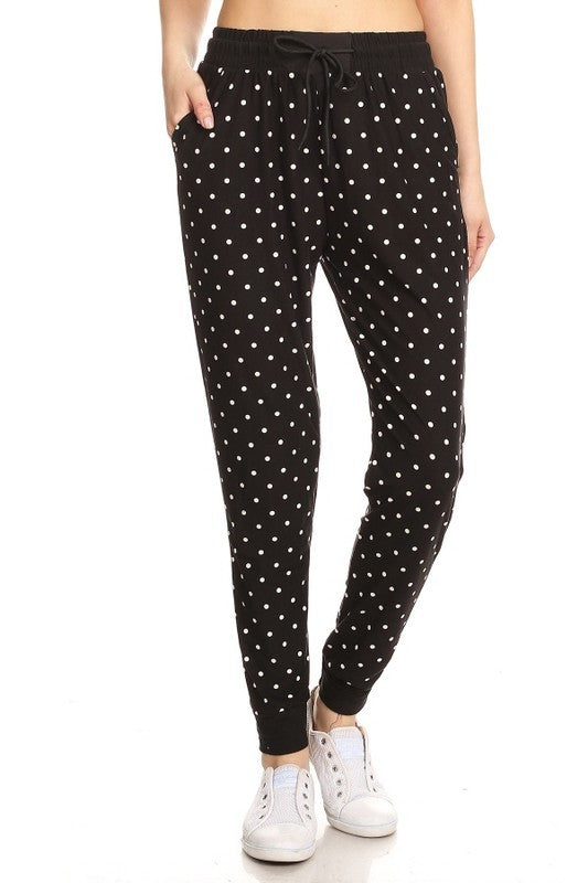 POLKA DOT BUTTERY SOFT JOGGERS
