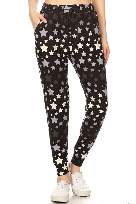 STAR PRINT BUTTERY SOFT JOGGERS