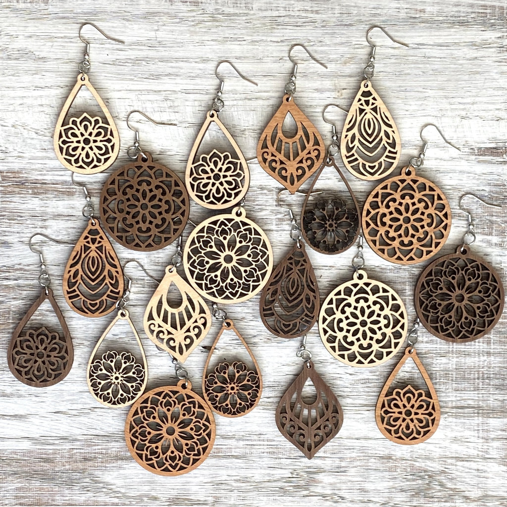 Handmade Wooden Earrings | 12 options
