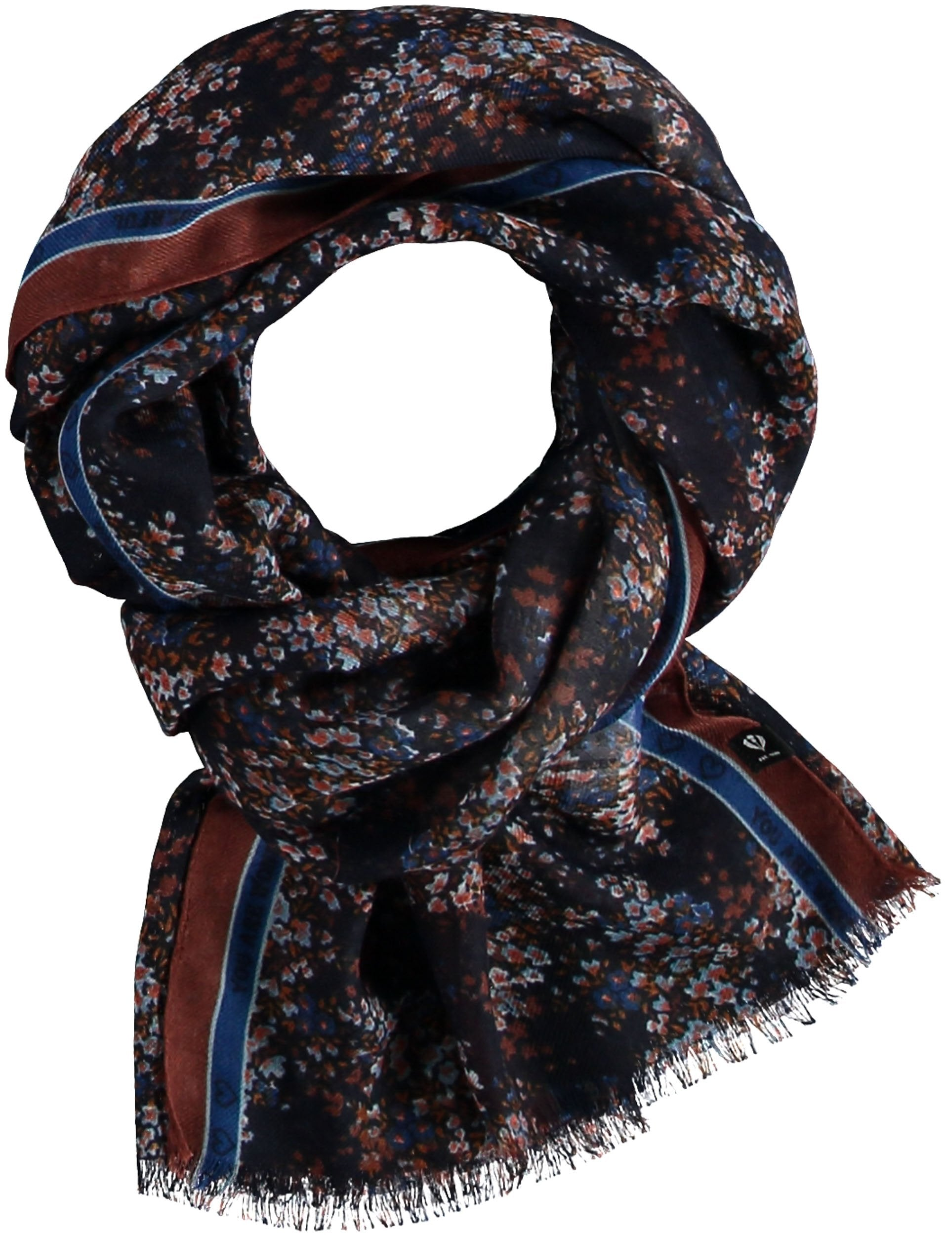 FRAAS Floral Border Polyester Print Scarf