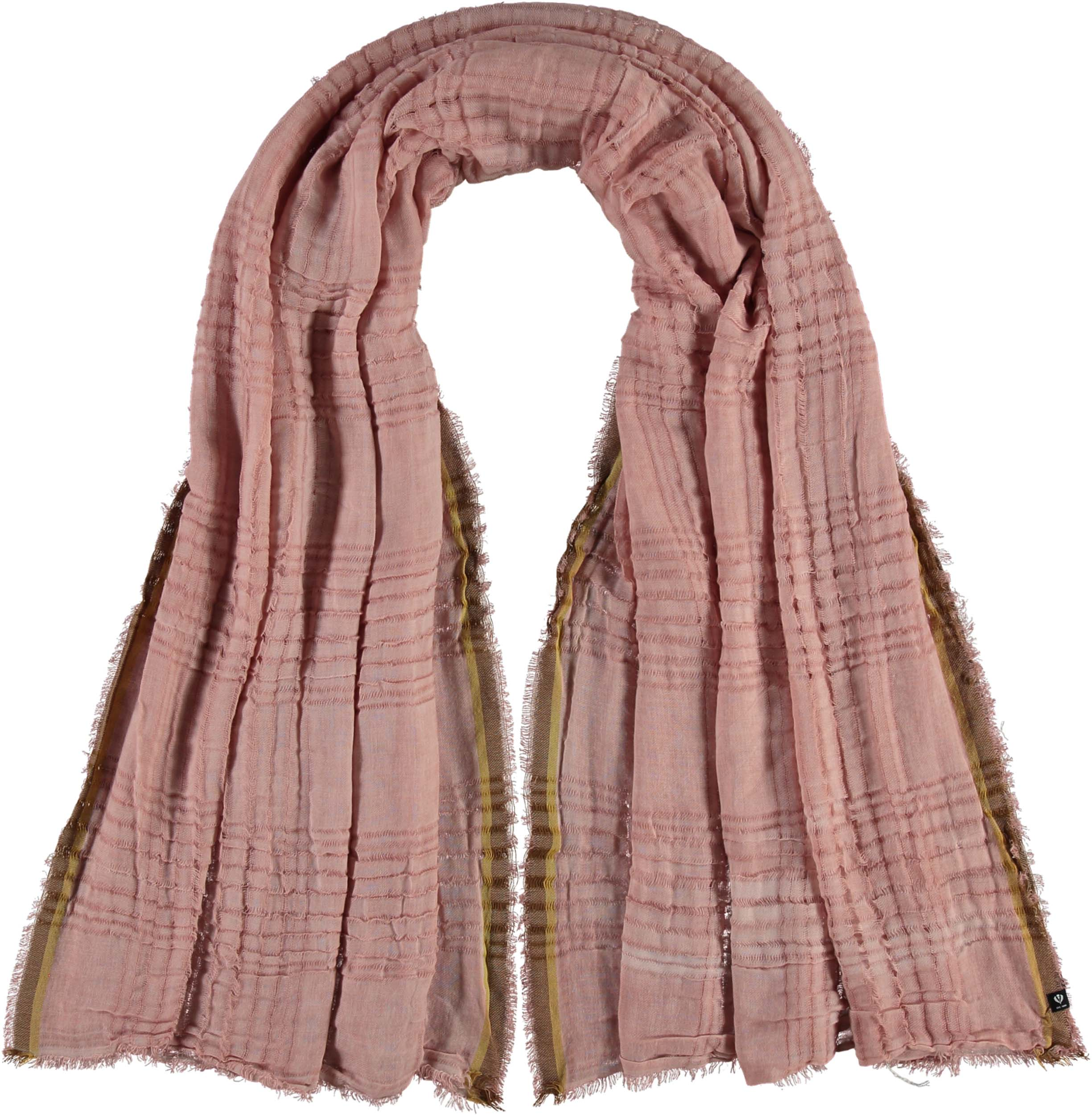 Open Plaid Weave Solid Polyester Wrap Scarf
