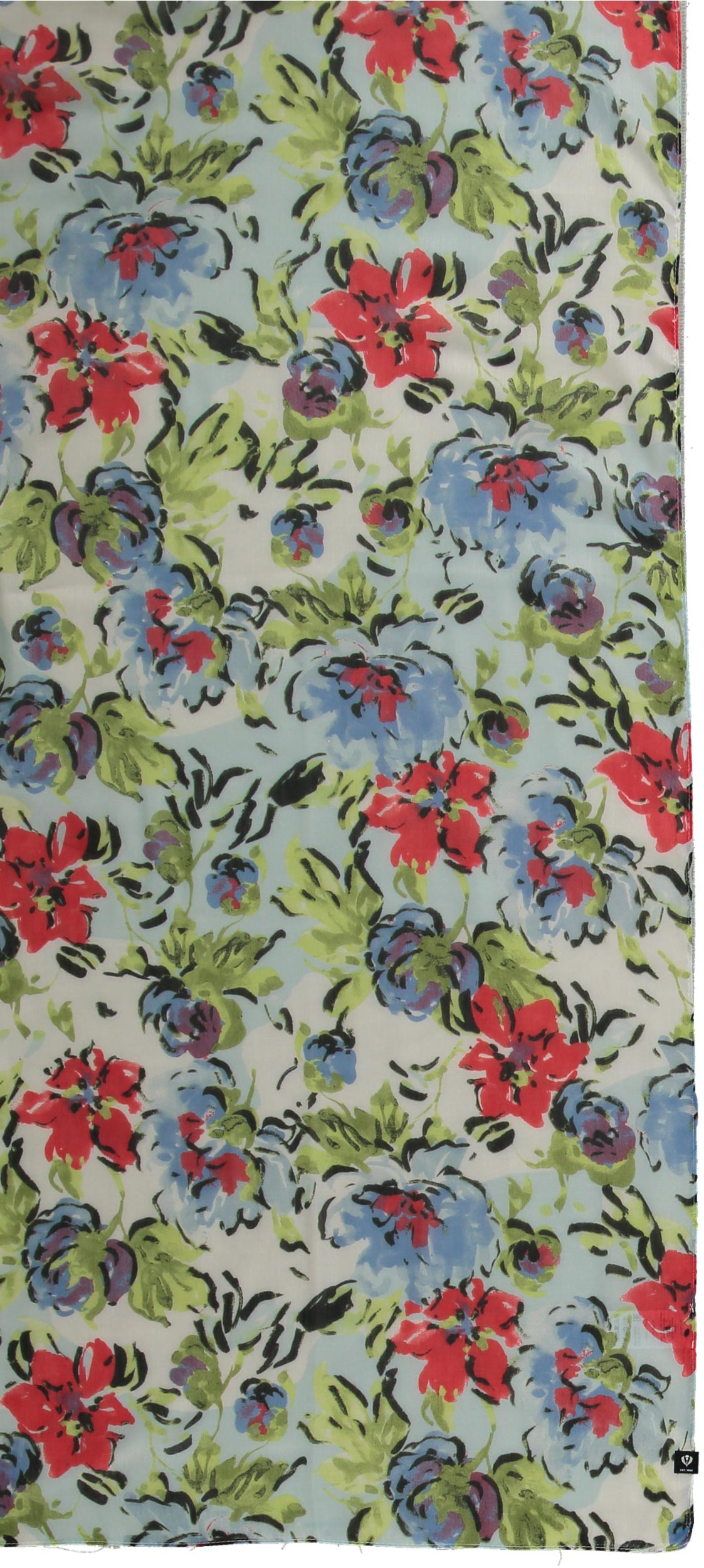 Floral Bouquet Polyester Printed Scarf